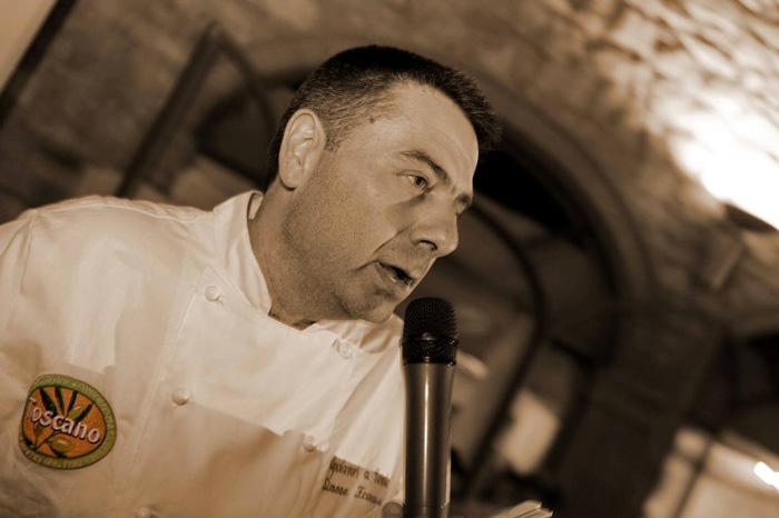 chef Simone Fracassi per consorzio olio toscano igp